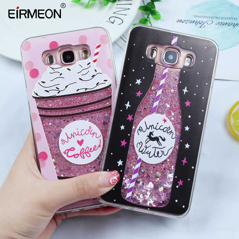 Liquid Glitter Dynamic Quicksand Case For Samsung Galaxy S8 A8 A5 2018 S8 S9 Plus S7 Edge J5 J7 J3 2016 A3 A5 A7 2017 Back Cover