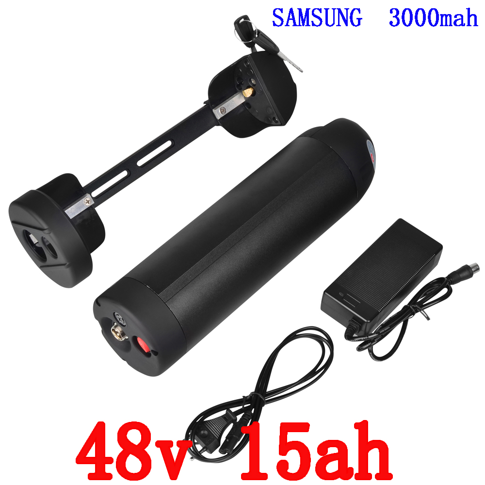 US EU no tax 750W 48V 15Ah Li ion Water Kettle Lithium Battery Black Case housing use for Samsung 3000mah Cell Water Bottle