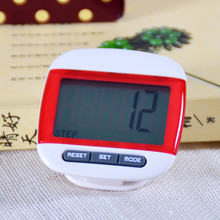 1 pcs Red Mini LCD Pedometer Calorie Walking Distance Calculation Digital Counter Sports Accessories 2016 Hot Sale