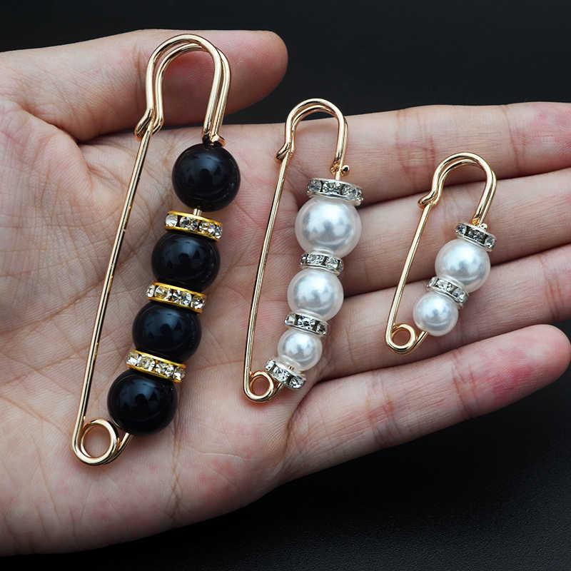 Bros Pin 1PC Simulasi Liontin Mutiara Berlian Imitasi Bersinar Sederhana Pesona Bros Pin Lencana Pakaian DIY Fashion Perhiasan Hadiah Wanita