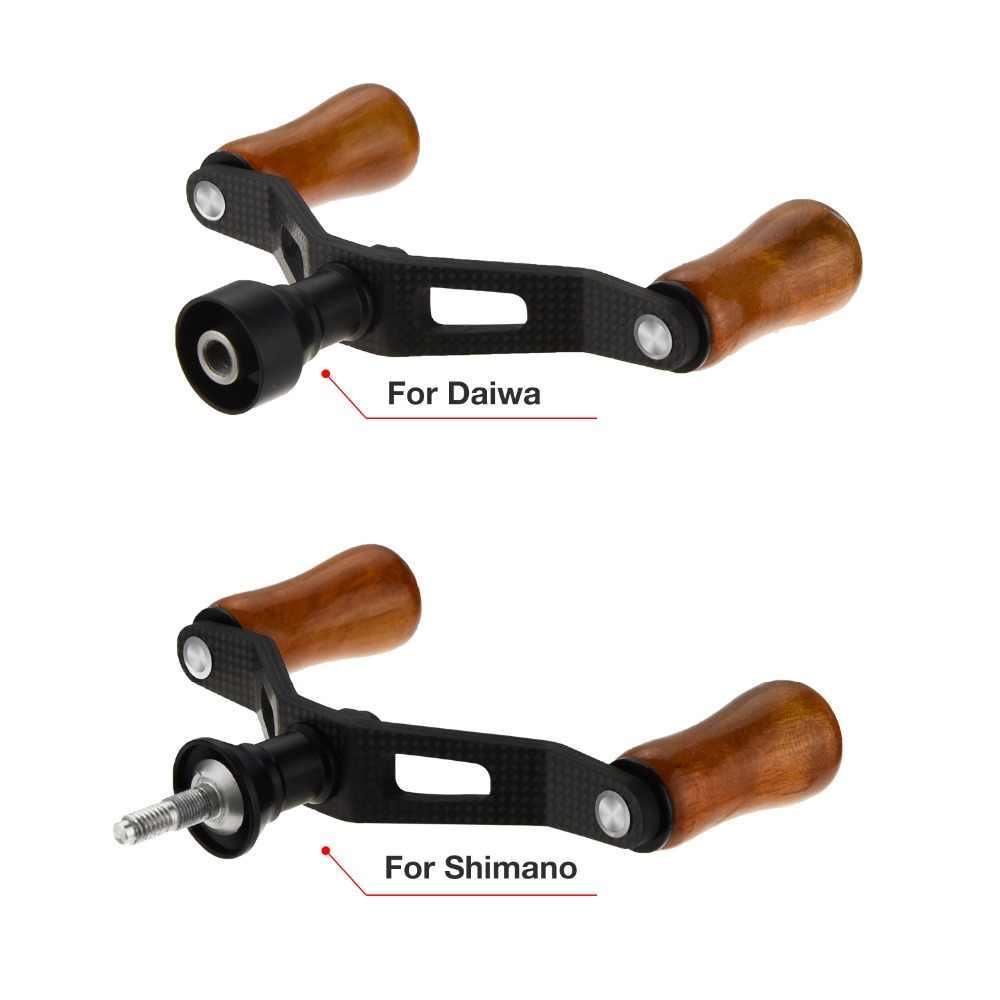 Piscifun углеродная двойная ручка для Shimano Daiwa 1000-3000 спиннинговая катушка STRADIC CI4 + Стелла BIOMASTER TWINPOWER ULTEGRA FUEGO LT