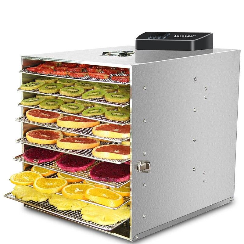 Machine commerciale de séchage de légume de Fruit de nourriture de dessiccateur de Fruit d'acier inoxydable avec la porte visuelle déshydrateur de Fruit de dispositif séché par viande
