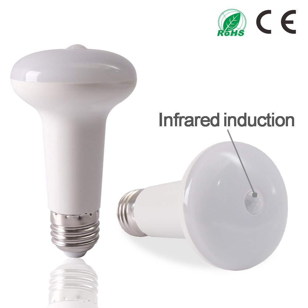 купить New Design 9W Human Motion Infrared PIR Sensor LED Bulb AC85~265V Lamps E27 White Energh Saving LED Bubble Lamp недорого