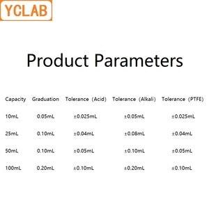 Image 3 - YCLAB 25mL ביורטה עם ברזלים עבור ברמת שקוף זכוכית מעבדה כימיה ציוד