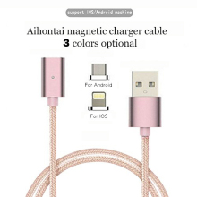 Magnetic font b USB b font Data Charger Cable Nylon Braided Wire Micro font b USB