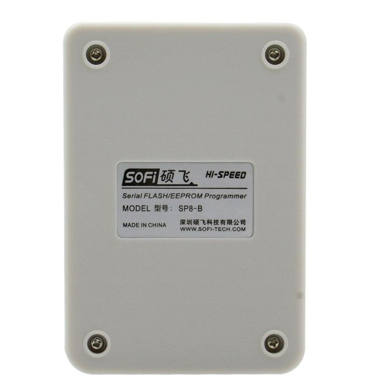 SoFi SP8-B programmer with sop8 clip sop8 150mil socket Sop8(20)-1.27 socket with 1.8 V adapter