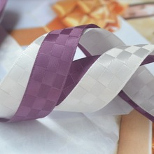 (100yards/lot) satin grid checker Ribbon tape for hand made craft, wedding Christmas gift decoration, free shipping, 5/8(16mm)