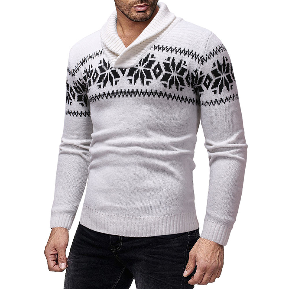 2019 Men Christmas Autumn Winter Pullover Knitted Top Sweater Outwear Blouse #4N05 #F