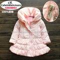 Новый 2014 осень зима куртка детская одежда девочек верхняя одежда детей куртки пальто ребенка розовые принцессы теплой куртки ватные