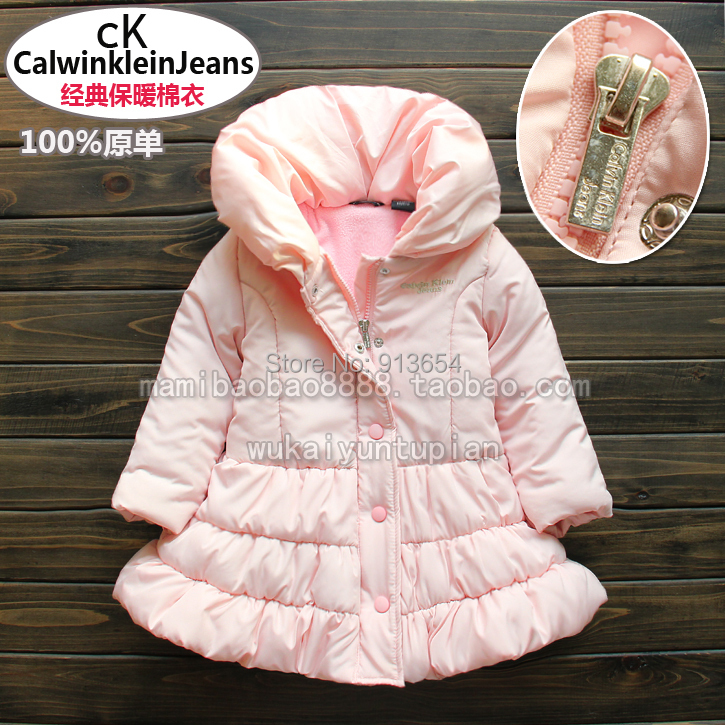 ФОТО new 2014 autumn winter jacket baby clothing girls outerwear kids jackets coats child pink princess warm wadded jacket
