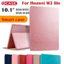 Kaku Imán M3 cubierta Del Tirón Inteligente para Huawei MediaPad 10 Lite 10.0 10.1 BAH-W09 BAH-AL00 Tablet caso Estela de Reposo Automático funda de cuero