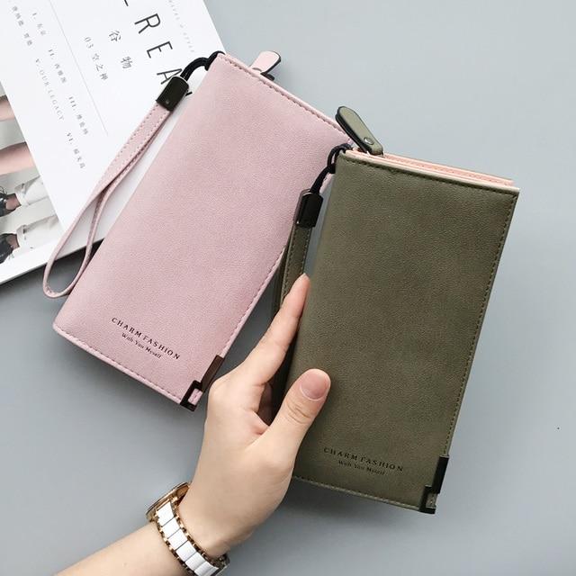 Women Wallets Fashion Lady Wristlet Handbags Long Money Bag Zipper Coin Purse Cards ID Holder Clutch Woman Wallet Purse Notecase 2