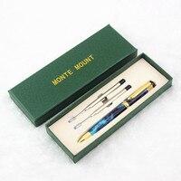 Alta qualidade Executivo caneta Esferográfica conjunto Guarnição Dourada 0.7mm Rolo ball Pen