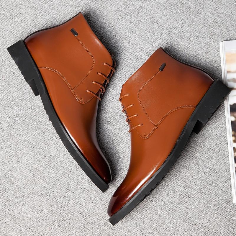 Estilo 38 Inverno black Pai up Sapatos Neve Tornozelo Homens Moda Black Fonirra Da brown Lace Outono Botas Boots De Plush Interior Ankle Clássico 944 Lã Antiderrapante 44 XtURnW8qn7