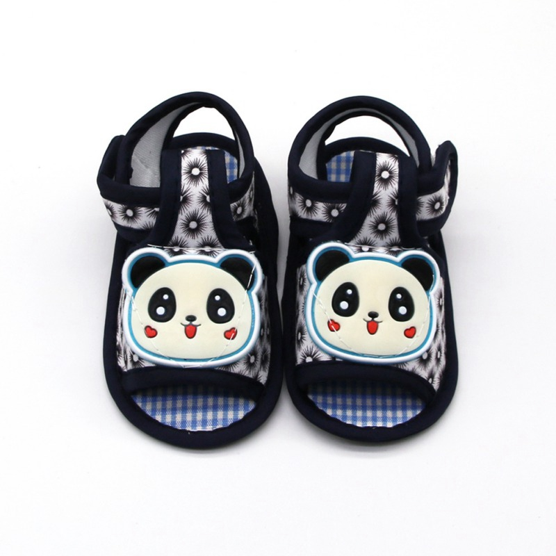 New Summer Boy Girl Cartoon Panda Pattern Shoes Soft Sole Outdoor Anti-slip Breathable Shoes