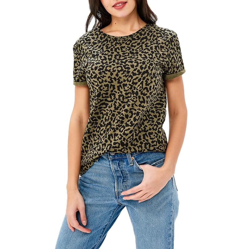T-Shirts MODIS M181W00282 woman t shirt cotton for female TmallFS stripe panel raglan sleeve t shirt