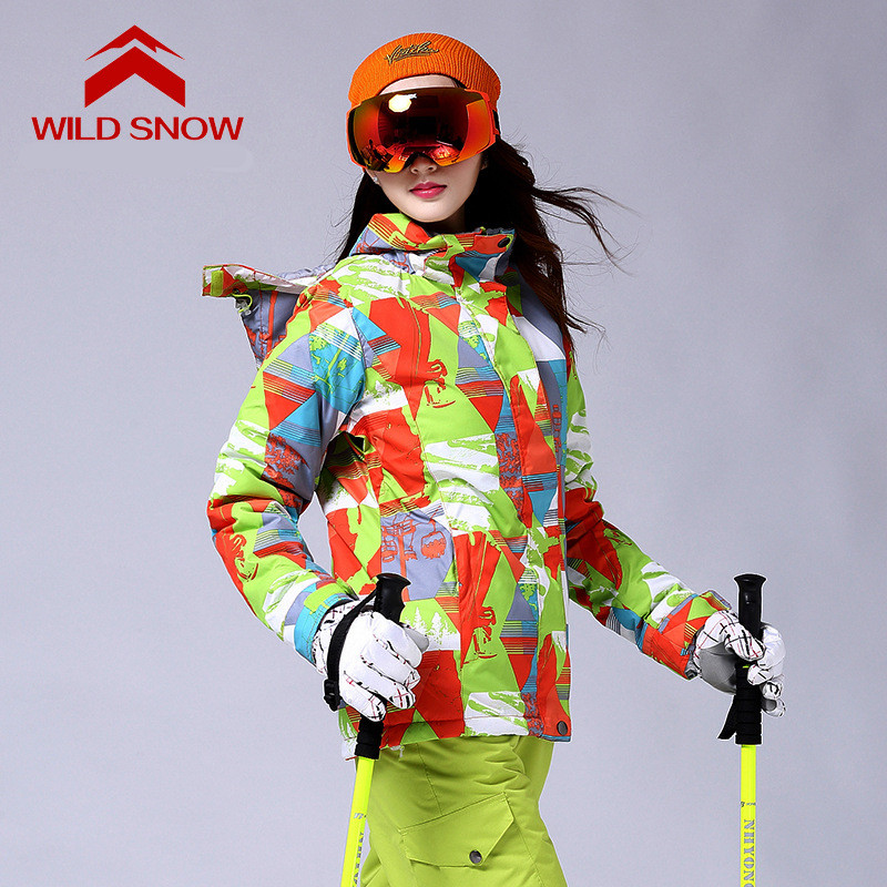 Ski Jacket Women Warm Breathable Outdoor Waterproof Winter Brand Skiing Jacket For Snowboarding Hiking Jackets Ladies Snow Coats dropshipping new brand outdoor sports waterproof breathable hiking camping sport waterproof snowboarding pants for women
