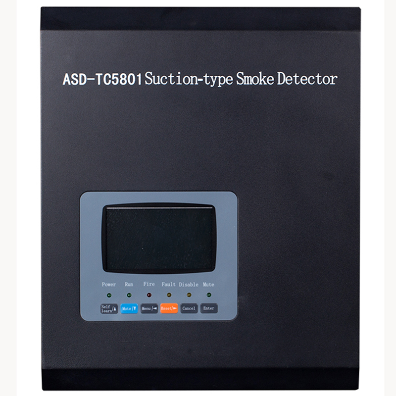 ASD-TC5801 Suction-type Smoke Detector   Air Sampling Detector With 2 Loop  Aspirated Smoke Detector  With Relay Output