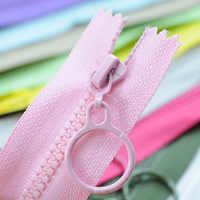 10pcs Resin Zipper 25cm Closed 60cm Open-end Zippers for DIY Craft Sewing Bag Garment Accessories DTT88