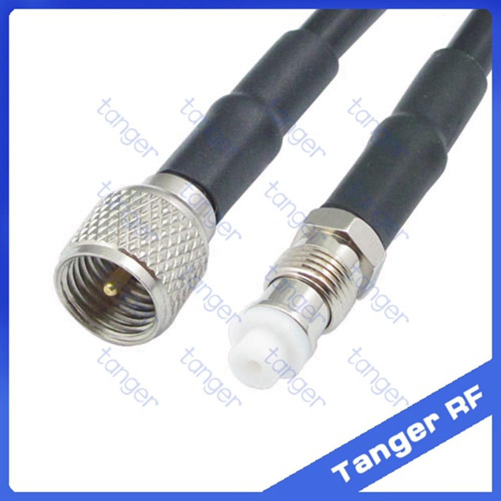 Hot selling FME female jack to Mini UHF male plug PL259 connector straight RF RG58 Pigtail Jumper Coaxial Cable 20inch 50cm uhf female so239 jack to mini uhf male plug straight adapter rf connector