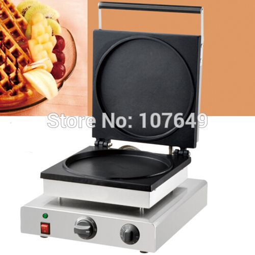 110v 220V Commercial Use Non-stick Electric Pancake Waffle Maker Iron Baker Machine commercial non stick 110v 220v electric 6pcs waffle pancake maker iron machine