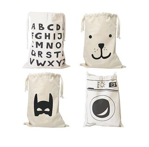 Милые Игрушки для маленьких детей хранения холст Сумки Бэтмен узор медведь Прачечная сумка для маленьких детей Игрушечные лошадки сумка дл...