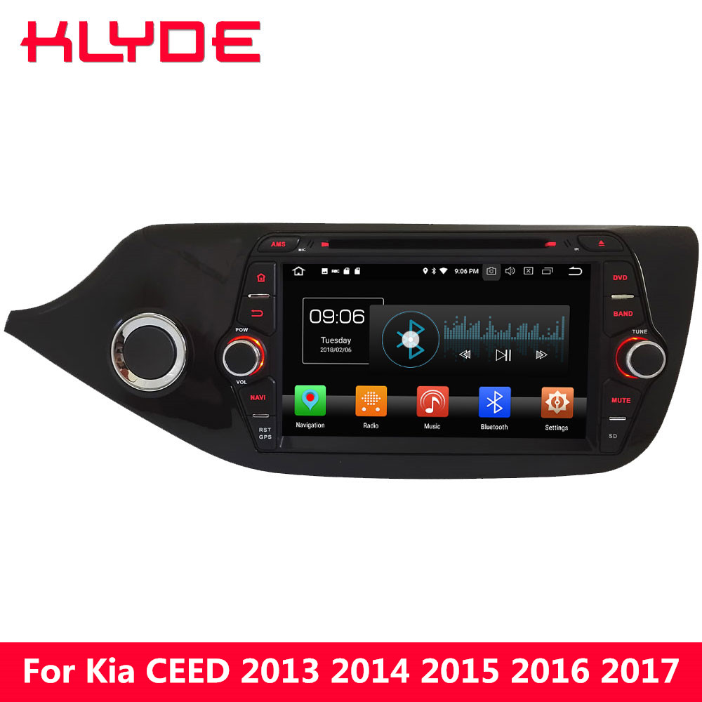 KLYDE 8 Android 8.0 Octa Core PX5 4G WIFI 4GB RAM 32GB ROM Car DVD Multimedia Player For Kia Ceed 2012 2013 2014 2015 2016 2017 klyde 8 4g wifi android 8 0 octa core px5 4gb ram 32gb rom bt car dvd player radio gps navigation for hyundai elantra 2016 2017