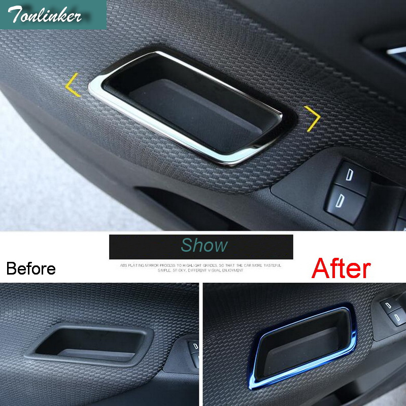 Tonlinker Cover Case Stickers for Chevrolet Equinox 2017 Car Styling 4 PCS stainless ste ...