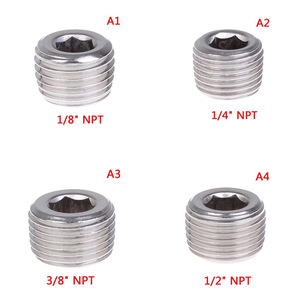 "Stainless Steel Internal Hex Countersunk Thread Socket Pipe Plug 3//4/""NPT Male"