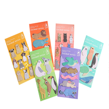 10packs /lot New Cartoon Zoo Sticky Memo Pad Decoration Memo Pad Self-Adhesive N Times Sticky Notes Office School Supplie today s list cartoon n times self adhesive memo pad sticky notes bookmark school office supply