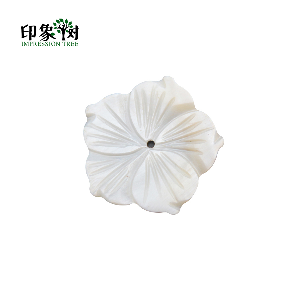 10pcs  30X28mm Shell Beads White Natural Mother Of Pearl Shell Redbud Flower Texture Curved Spacer DIY Jewelry Makings 1873
