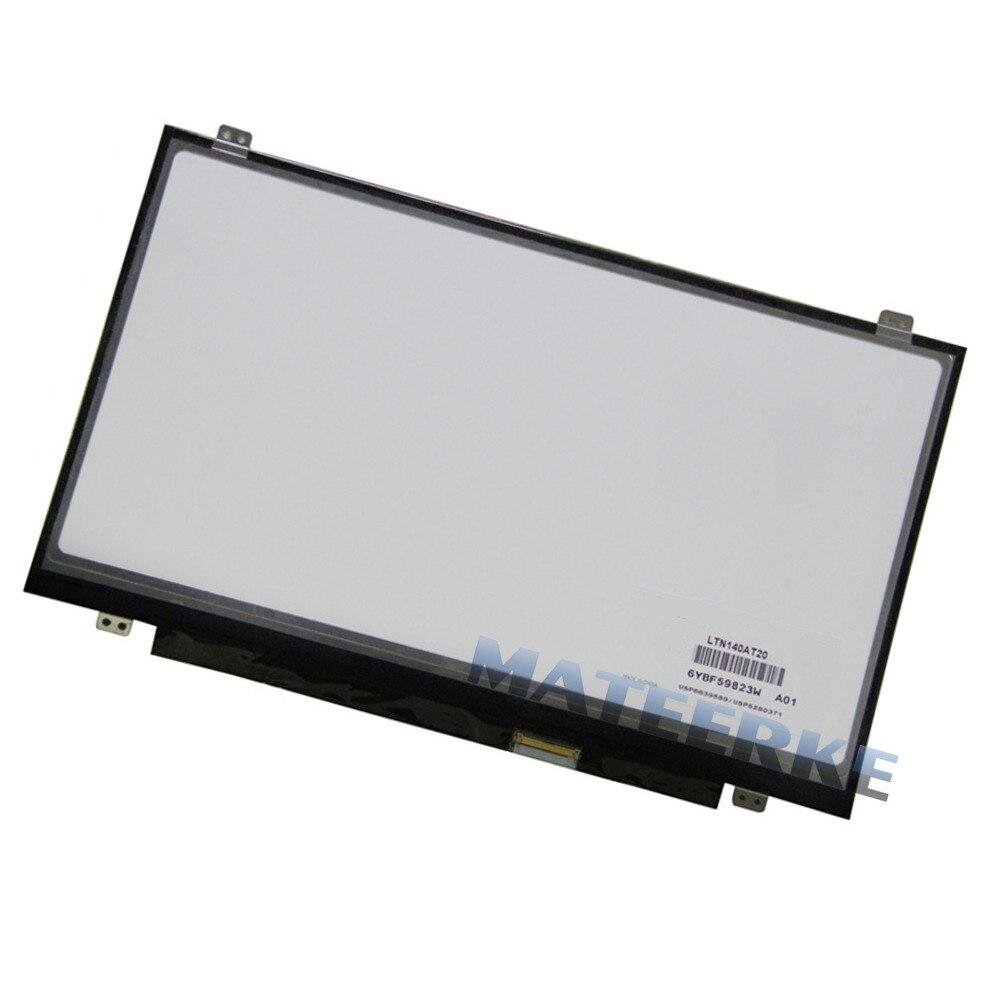 NEW14.0&#8243; Laptop Slim <font><b>LED</b></font> Screen B140XW03 B140XW02 v.1 N140BGE-LB2 M140NWR1 B140XTN03.0 N140B6-L06 BT140GW03 CLAA140WB01A