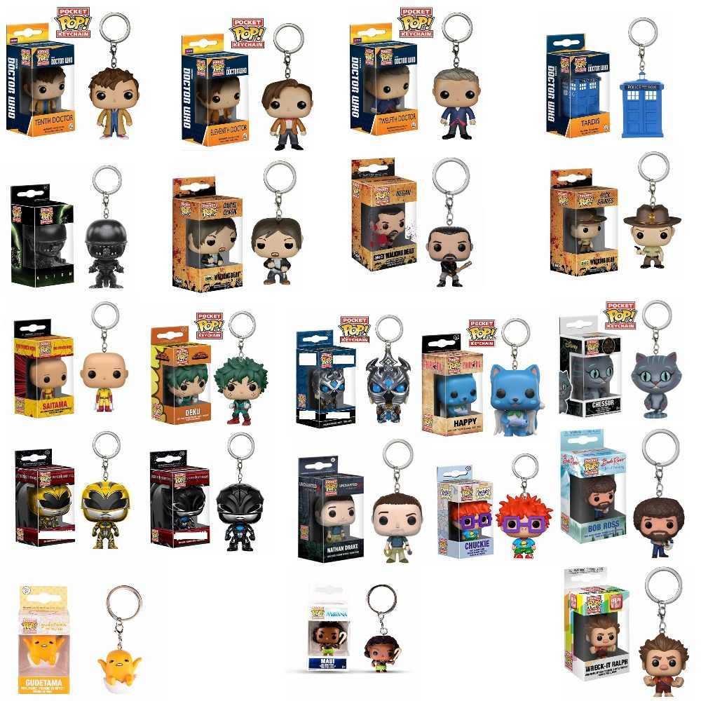 POP Doctor Who 10th/11th/12th Keychain Oficial Personagens de The Walking Dead Action Figure Collectible Modelo Brinquedos de Natal