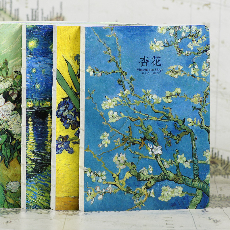 220 pages Van Gogh oil painting series Notebook paper Diary Book Sketch Book Chrismas Gift hand painted famous oil painting the bedroom at arles c 1887 of vincent van gogh multicolored