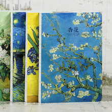 220 pages Van Gogh oil painting series Notebook paper Diary Book Sketch Book Chrismas Gift