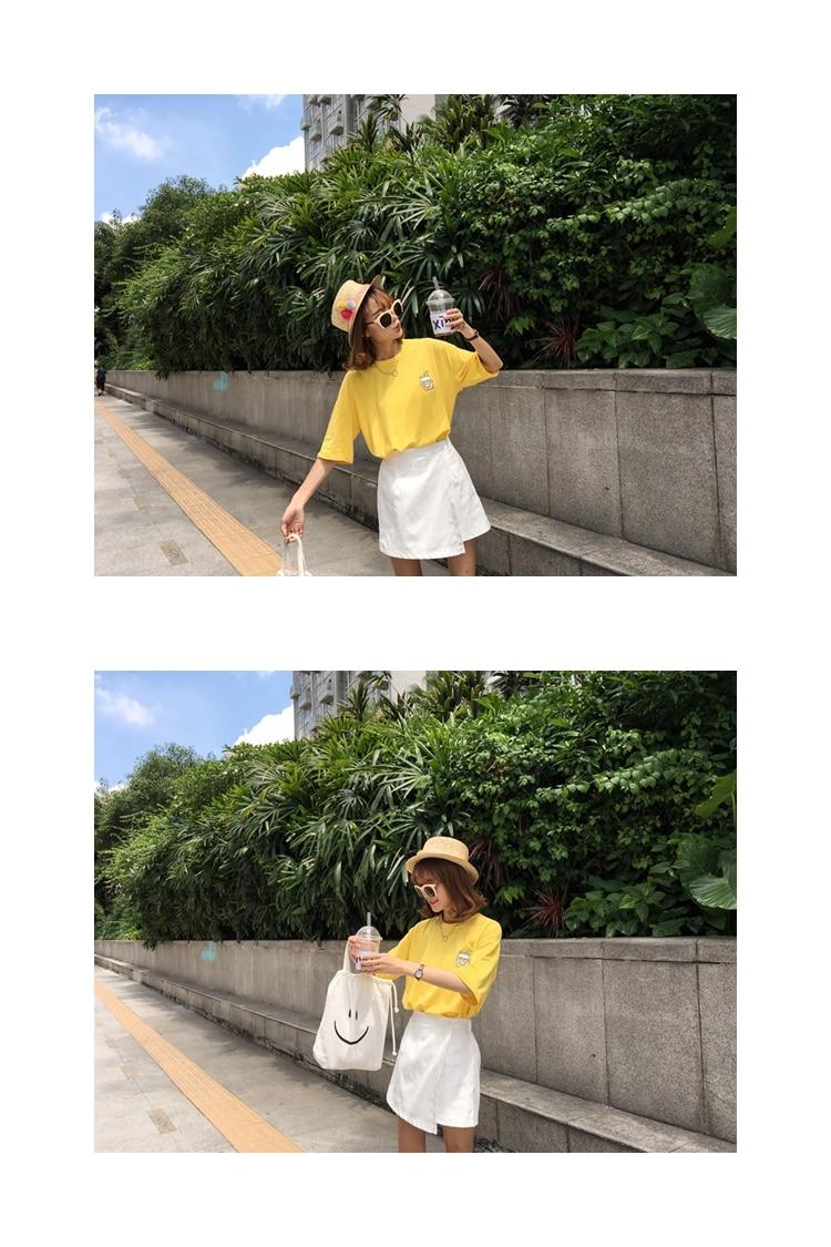 HTB1AC.vKFXXXXbvaXXXq6xXFXXXM - Summer New Cute Banana Milk Embroidered T-shirts PTC 192