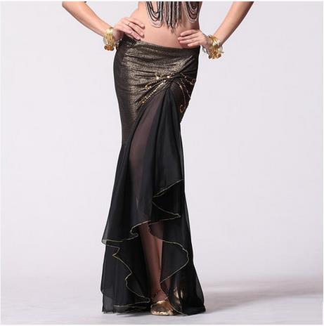 New Belly Dance Costumes Sexy Senior Chiffon Fishtail Belly Dance Skirt For Women Belly Dancing Skirts