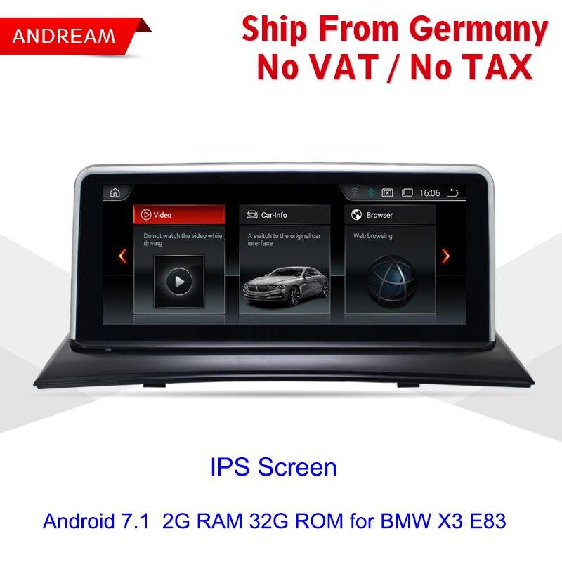 10.25 Quad Core Véhicule lecteur multimédia Pour BMW X3 E83 Android GPS Navigation Wifi Volant ID6 Interface EW967BW-CIC