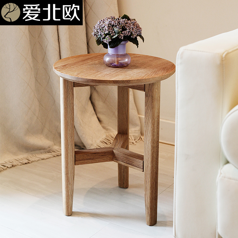 Love scandinavian minimalist side table small coffee table for Small round wooden table