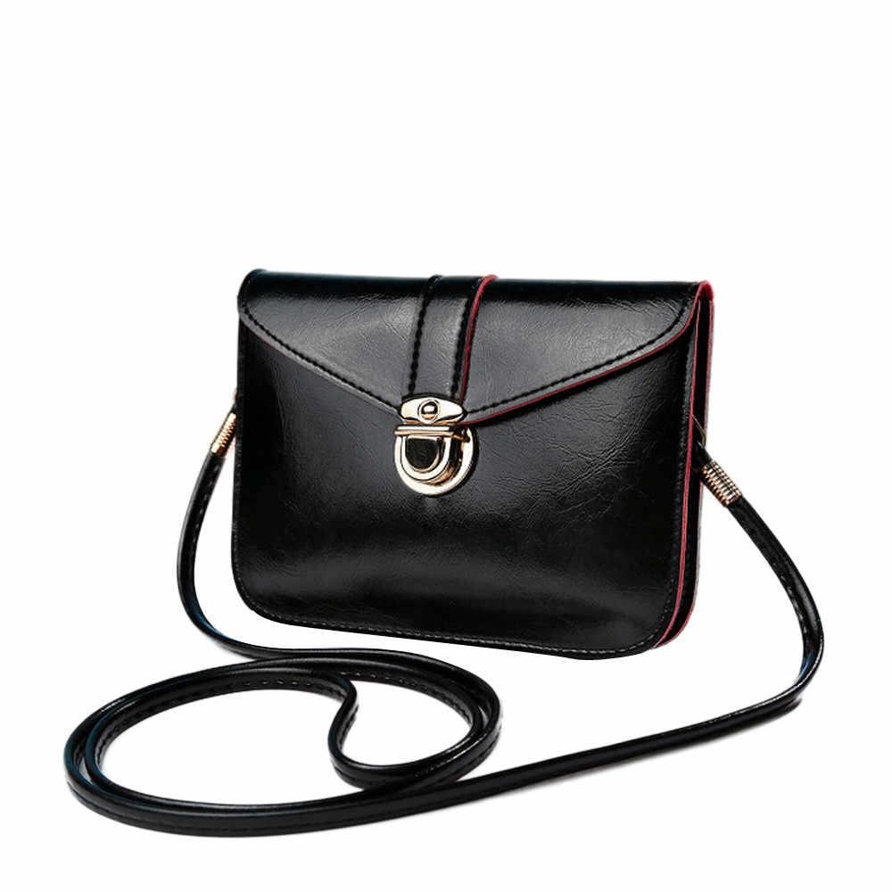 Bolsas de Couro das mulheres de Mini Sacos de Moda Pequena Mudança Moeda Cartão de Telefone Móvel Bolsa Feminina Fivela PU Ombro Crossbody Bag2.9