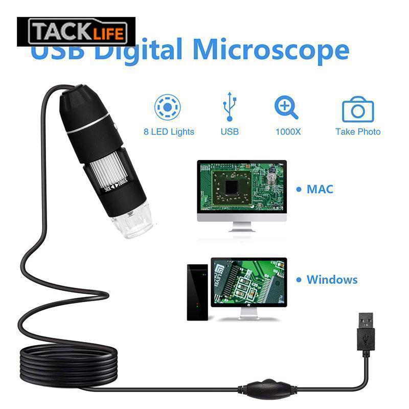 Microscope numérique Endoscope pratique Endoscope à main ABS vidéo en temps réel étanche Photos Microscope électronique