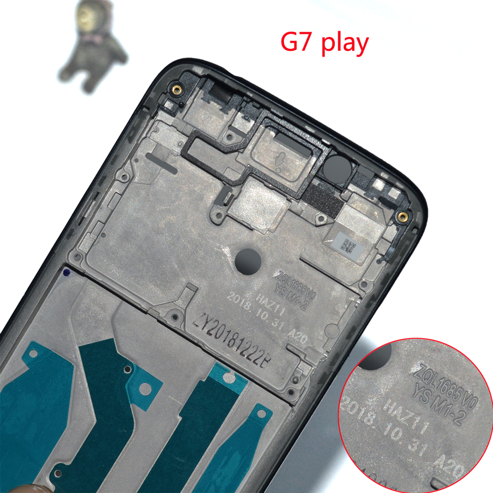 Image 5 - Wholesale Original For Motorola Moto G7 play XT1952 2 LCD metal Plate Frame + Middle Bezel Front Frame full housing parts-in Mobile Phone Housings & Frames from Cellphones & Telecommunications