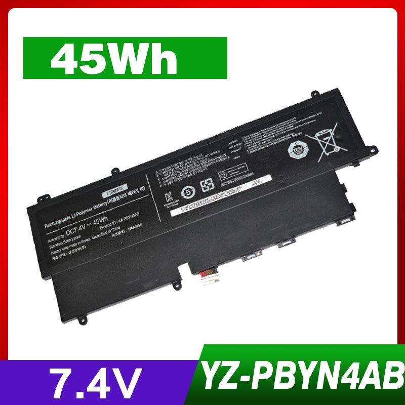 45Wh 7.4 V batterie d'ordinateur portable pour SAMSUNG Ultrabook AA-PBYN4AB NP530U3C Np530U3B NP-530U3B NP-530u3C 530U3B-A02 530U3C-A02 AA-PLWN4AB