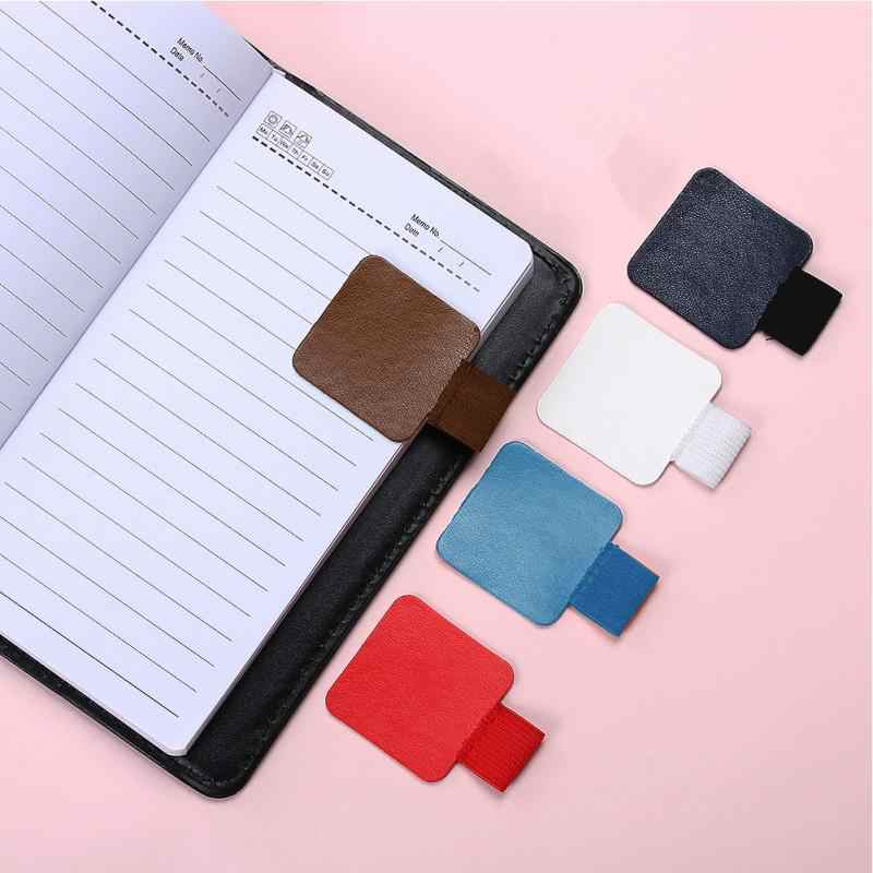 Self-adhesive Accessories Elastic Loop Simple Style Leather Pen Holder Pencil Pen Clip or Notebooks Journals Clipboards Pen Hold