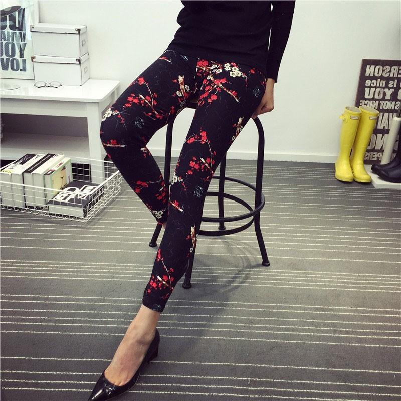 BIVIGAOS Spring Summer Womens Fashion Black Milk Thin Stretch leggings Colored Stars Graffiti Slim Skinny Leggings Pants Female 39