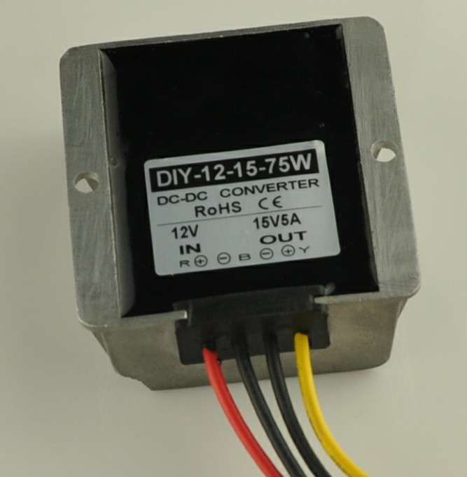 12V(9V-13V) Step Up To 15V 5A 75W DC DC Converter Boost Power Module For Car Power Supply Waterproof