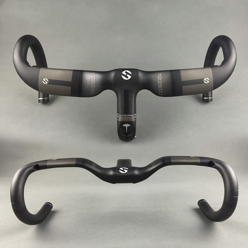 2016 Newst Integrated Road Bicycle Handlebar 3K Full Carbon Fiber Rise Bent Bars Broken Wind Road Bike Handlebar 400/420/440mm 2017 new style toseek full carbon fiber road bike handlebar bicycle handlebar 31 8 400 420 440mm multicolored color matt