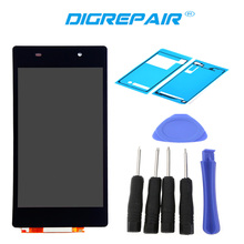 Black For Sony Xperia Z2 L50W D6502 D6503 LCD Display Digitizer Touch Screen Full Assembly, Free Shipping +Tools+Adhesive
