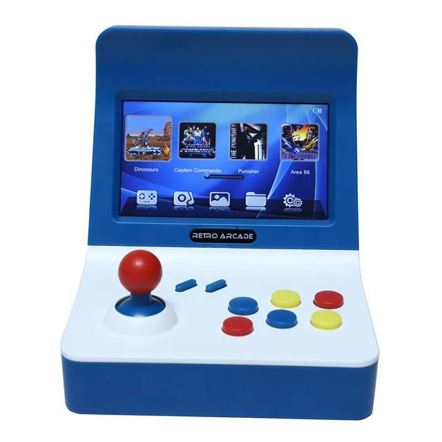 Powkiddy A8 Ретро аркадная консоль игровая машина встроенный 3000 классические игры геймпад управление AV Out 4,3 дюймов Scree