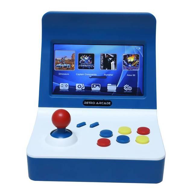 Powkiddy A8 Retro คอนโซลเกมคอนโซลเครื่องคลาสสิก 3000 เกม Gamepad ควบคุม AV OUT 4.3 นิ้ว Scree